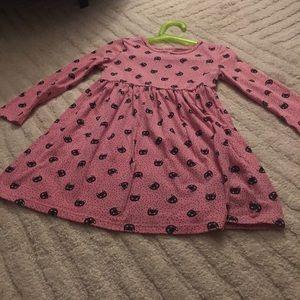 Girls pink kitty cat dress halloween. Like new